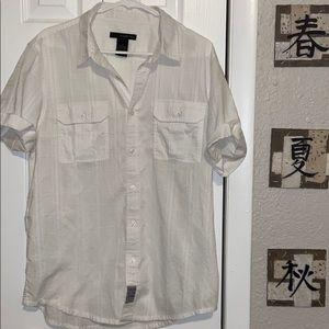 🎸Calvin Klein White Button Down Shirt